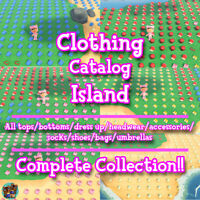 Animal Crossing New Horizons 🔥 ACNH Clothing Catalog Island 🔥 No Time Limit