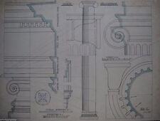 Originalzeichnungen (1900-1949) mit Architektur-Motiv und Tusche-Technik