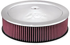 "14"" K & N Air Cleaner Assembly, 1.25"" Drop Base, Air Filter Height 4"""