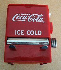 Vintage 1995 Coca-Cola Red Vending Machine Toothpick Dispenser with Toothpicks