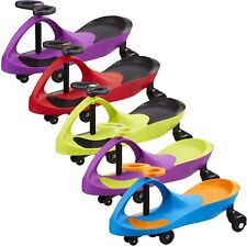SWING CAR RIDE ON DRIFT SWIVEL SCOOTER CHILDRENS TOY KIDS WIGGLE GYRO TWIST