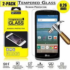 2-Pack Tempered Glass Screen Protector for LG Optimus Zone 3/K4/Spree/Rebel LTE