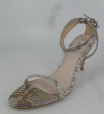 Topshop Snake Print Strappy Heeled Sandal's Metallic UK 6 EU 39 NH085 VV  05