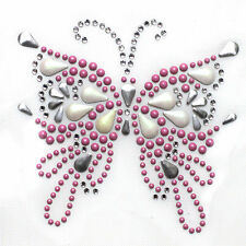 Rhinestone Iron on Transfer Hot fix Motif crystal Fashion Design Butterfly  87