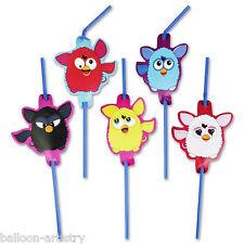 8 adorable Furby Juguete furbies Fiesta Cumpleaños carácter Pajitas