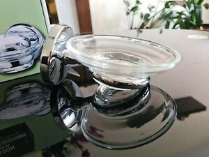 Boston Soap Dish Glass And Chrome