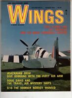 Wings Airplane Magazine V3 #4 Aug 1973 F7F Tigercat B-18  Test Flying