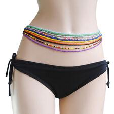 10Pcs/Set Women Single Layer Multicolor Beaded Elastic Belly Waist Chain