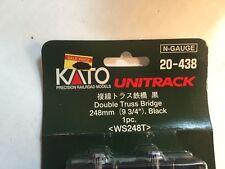 "Kato Unitrack Double Truss Bridge 248mm (9 3/4"") Black 1 pc. # 20-438"