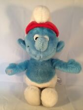 Smurf Plush Toy  ~ Wallace & Berrie Peyo Smurfs 1982 ~ 13 Inches ~ Excellent