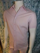INTERNATIONAL MALE MEN'S SPRING 2017 PINK BUTTON DOWN SHIRT SIZE S
