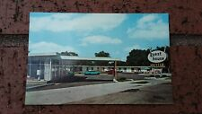Route 66 Postcard Mo Carthage Guest House Motel old Cars