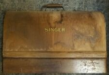 New ListingVintage Singer Featherlight Sewing Machine Wooden Storage Case/With Key