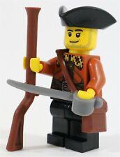 LEGO PIRATES IMPERIAL DANISH SOLDIER PILGRIM MINIFIGURE - MADE OF GENUINE LEGO