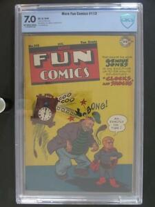 More Fun Comics #113 - CBCS 7.0 FN/VF - DC 1946 - 3rd HIGHEST GRADE!!!
