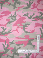 Camouflage Camo Pink Green Girl Cotton Fabric VIP Cranston - By The Yard