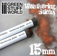 Pinceles Weathering 15mm - Esponja Efecto Oxido, Barro, Envejecer - Pigmento
