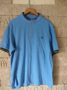 Fred Perry Bradley Wiggins polo shirt blue blau  2XL