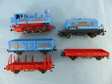 MÄRKLIN train CIRCUS MONDOLINO 1 locomotive + 4 wagons focntionne  ech: Ho