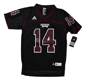 adidas NCAA Youth Mississippi State Bulldogs Football Jersey NWT M, L, XL