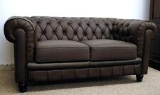 Chesterfield Design 2-Sitzer Farbe dunkelbraun Modell YS-2008-2 feinstes Leder