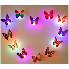 10 Pcs Wall Stickers Butterfly LED Lights Wall Stickers 3D House Decoration Hot
