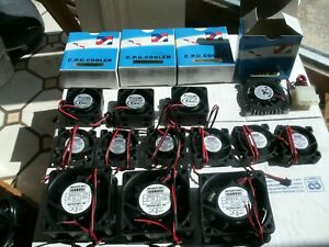Miniature Fans, CPU Cooling Fans For 5, 12 VDC, (16) Pieces, NOS-Never Used