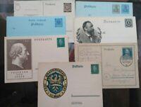 1900 - 1947 LOTTO DI 7 INTERI POSTALI POSTKARTE DEUTSCHLAND GERMANIA