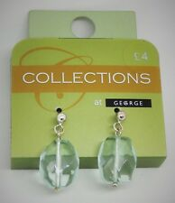 George Collections Ladies Earrings,Costume Jewellery,Amethyst Effect,F/Free P&P