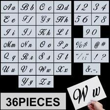 Letter Stencils, Alphabet Templates, Alphabet Stencils Reusable Plastic Art Craf