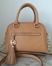 NWT Michael Kors knox tassel peanut brown Leather Tote Purse Bag satchel $328