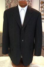Zanella Mens Dark Gray 3 Btn Blazer Jacket Sz 46 L MINT!