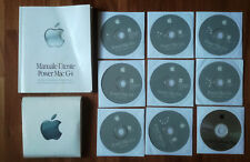 MANUALE  POWER MAC G4 +5CD RESTORE + CD INSTALL OSX + CD INSTALL OS9 + CD APPLIC