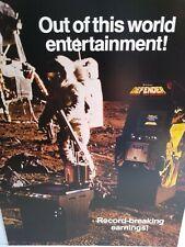 Defender Arcade FLYER 1980 Original NOS Video Game Space Age Artwork Sheet
