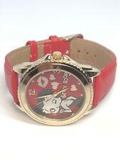Betty Boop Ladies Red Quartz Wristwatch Watch WORKING