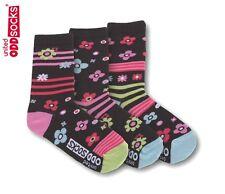 United Oddsocks Zingy Size 12 - 5.5 Floral Sock Fun Odd Socks Mismatched Girls
