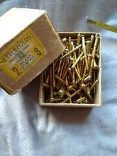 """2"""" x 8 round-head Brass Screws, Vintage- a collector's item!"""