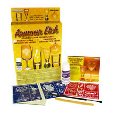 Armour Etch Glass Etching Starter Kit Includes 34 Stencils, Brush & Cream
