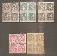TIMBRE MAROC POSTES LOCALES TANGER A FEZ 1892 BLOC 4 N°122/126 NEUF** MNH