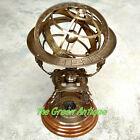 Antique Brass Armillary World Globe Big Collectible Decorative