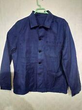 """ancienne veste bleue de travail """" au perroquet """" / B 286"""