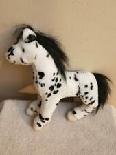 Douglas Cuddle Toy Appaloosa Spotted Horse Black White Plush 12""