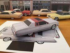 Papercraft Chrysler New Yorker Silver PaperCar EZU-MakeIt 1976-1978 ToyModelCar