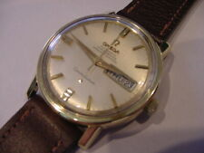OMEGA 1968 CONSTELLATION CHRONOMETER 24J GOLD SHELL DAY DATE 168.016 NO RESERVE