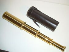 Stanley London 13 inch 25x30mm Brass Spyglass w/case excellent condition