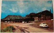 postcard Canyon Hotel Yellowstone National Park Wyoming Old Car roadside USA