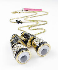BETSEY JOHNSON 'Paris Is A Good Idea' HUGE Binoculars Long Pendant Necklace $135