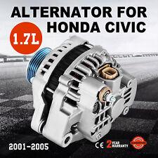 NEW ALTERNATOR FOR 1.7L 1.7 HONDA CIVIC 01 02 03 04 05 2001 2002 2003 2004 2005