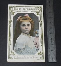 CHROMO PHOTO GUERIN-BOUTRON 1912-1920 CELEBRITES PRINCESSE MARIE ALICE DE SAXE