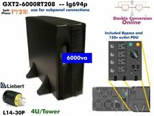 lg694p~ Liebert GXT2 Online 5200va UPS 120/240v GXT2-6000RT208 #NewBatts